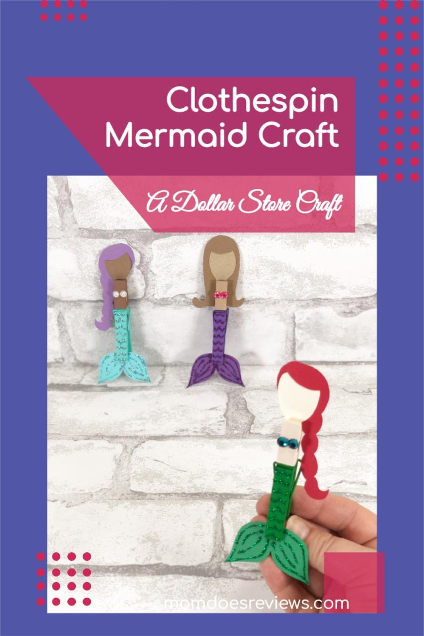 Dollar Store Clothespin Mermaid #Craft #mermaids #dollarstorecraft