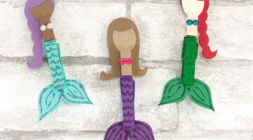 Dollar Store Clothespin Mermaid Craft