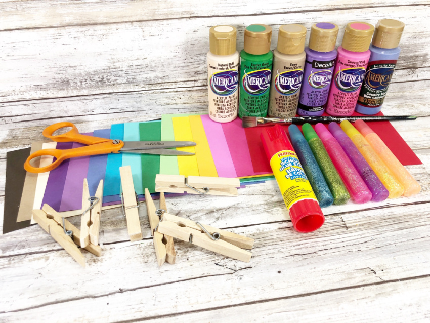 Dollar Store Clothespin Mermaid Craft materials needed