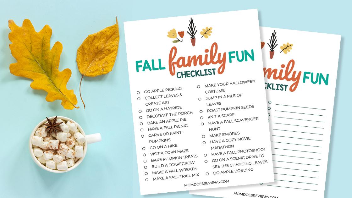 Fun Fall Checklist your Family will Love!