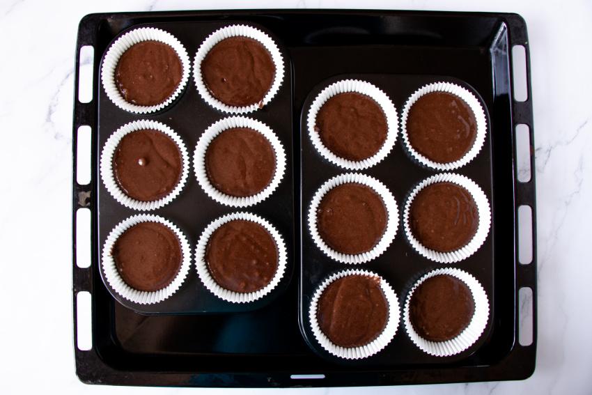 Frankenstein Cupcakes process
