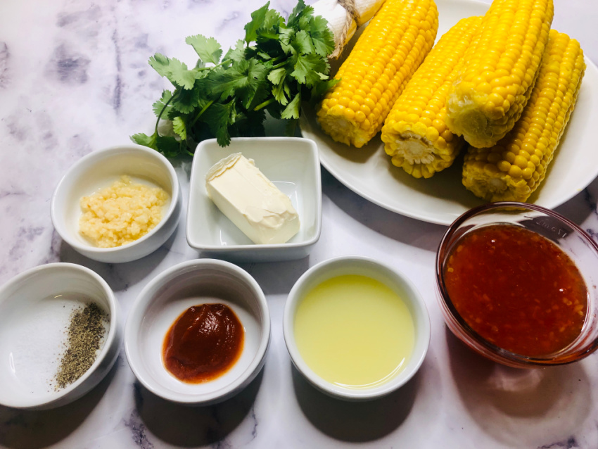 Grilled Bang Bang Corn on the Cob ingredients needed
