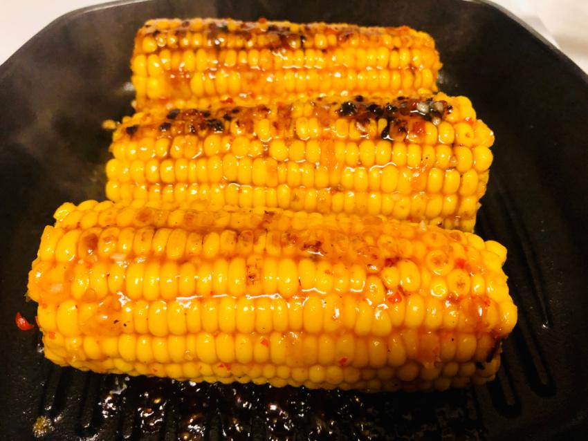 Grilled Bang Bang Corn on the Cob process
