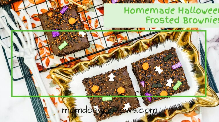 Homemade Halloween Brownies #frosted #funfood #chocolatelovers