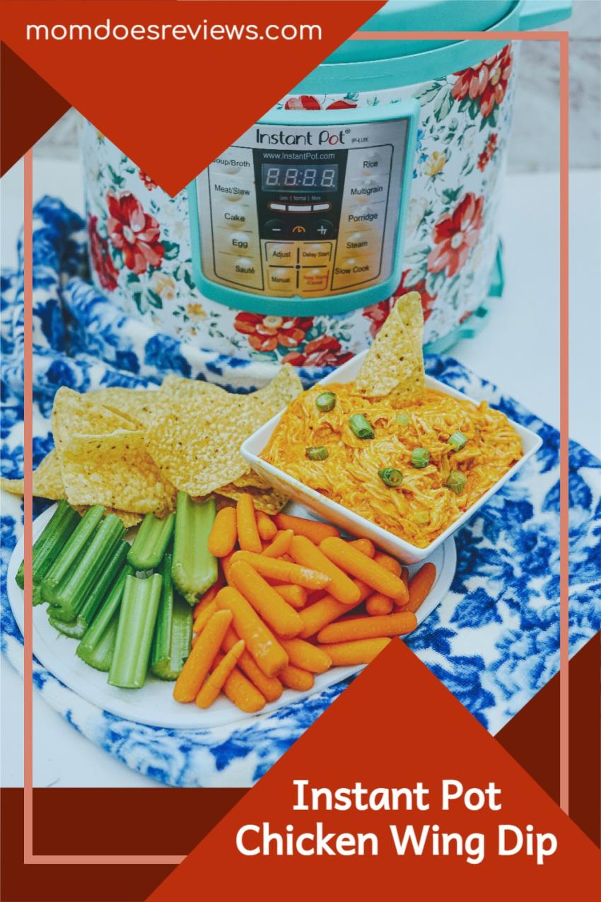 Instant Pot Chicken Wing Dip #recipe #chickenwings #dip #appetizer #insantpot