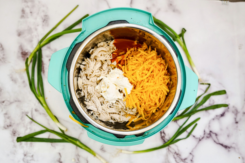 Instant Pot Chicken Wing Dip process
