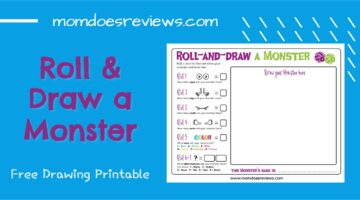 Roll & Draw a Monster- Free Drawing Printable!