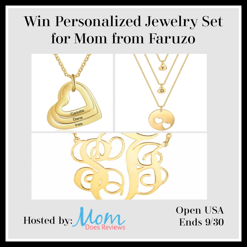 Win Personalized Jewelry Set for Mom from Faruzo
