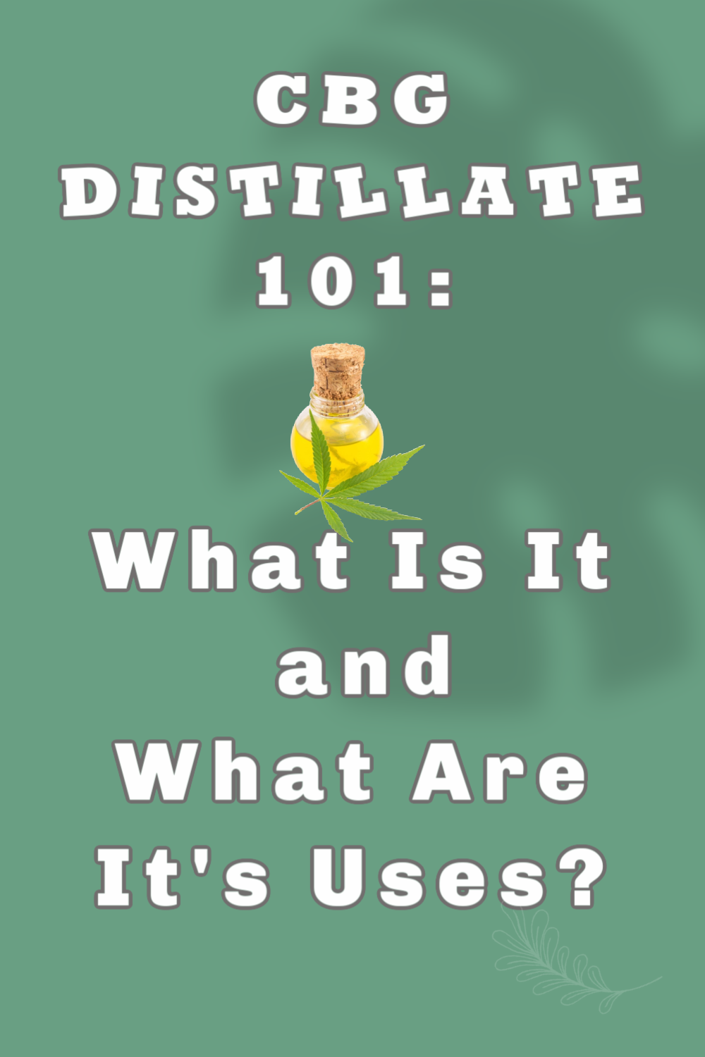 CBG Distillate 101: What Is It and What Are It's Uses?