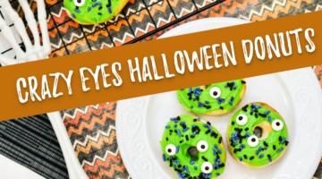 Crazy Eyes Air Fryer Halloween Donuts