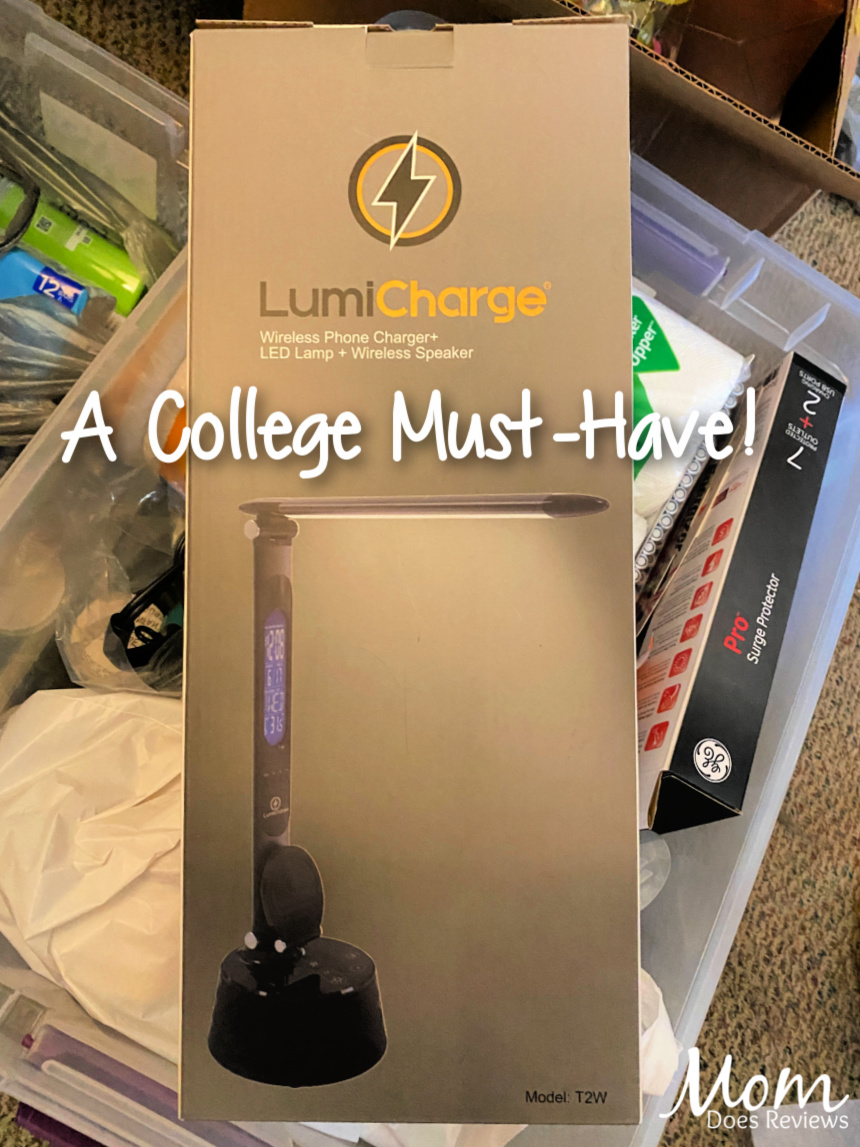 College Must-Haves: LED Desk Lamp with Wireless Charger and Galaxy Backpack #Back2School21