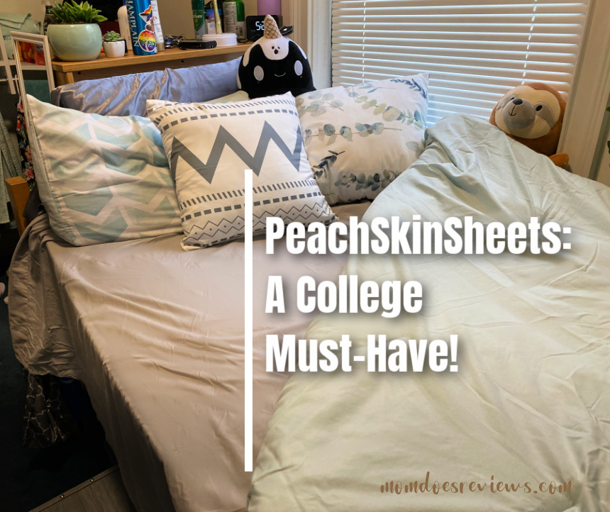 PeachSkinSheets- A College Must-Have! #Back2School21 #BestSheetsEver