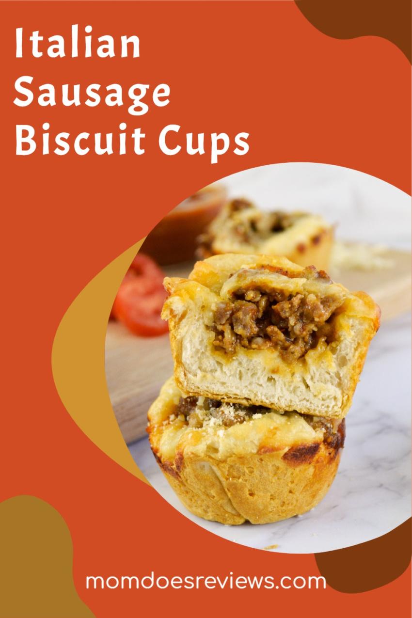 Italian Sausage Biscuit Cups #Recipe #snack #sausagecup