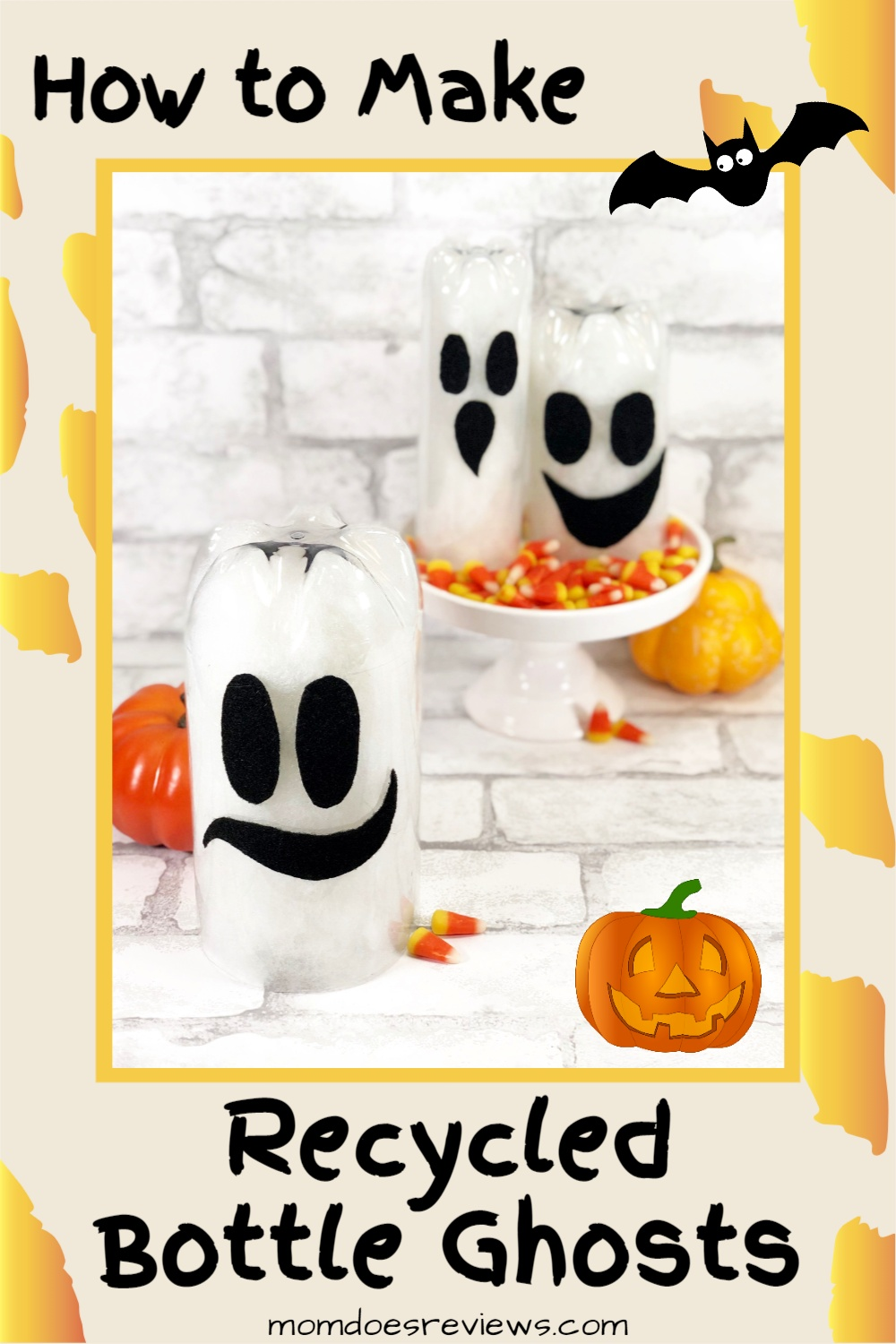 How to Make Recycled Bottle Ghosts for Halloween!