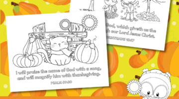 Thanksgiving Coloring Pages with Bible Verses #FreePrintables