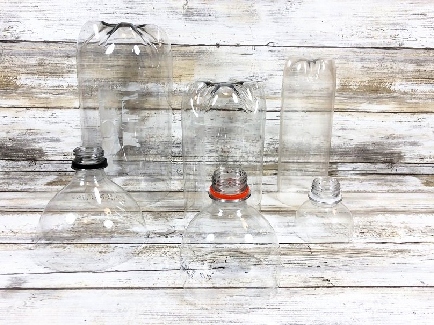 Recycled Ghost Bottles Craft