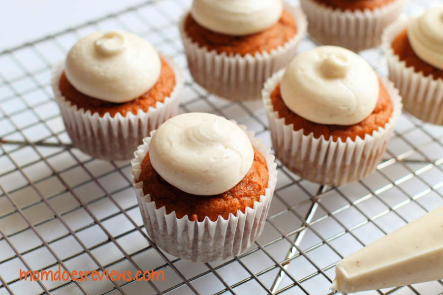 Pumpkin Spice Cupcakes with Cream Cheese Frosting (Gluten Free)